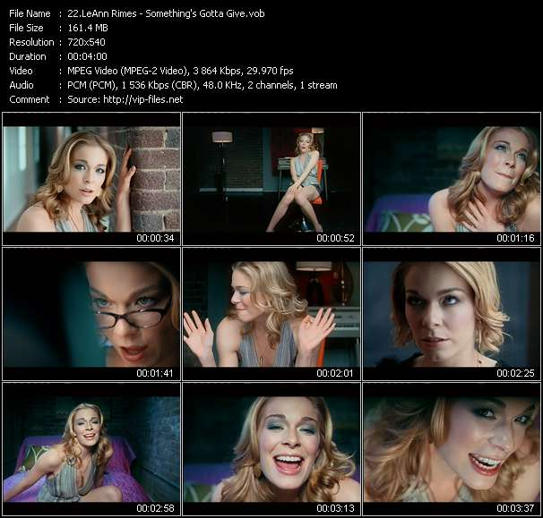 LeAnn Rimes video screenshot