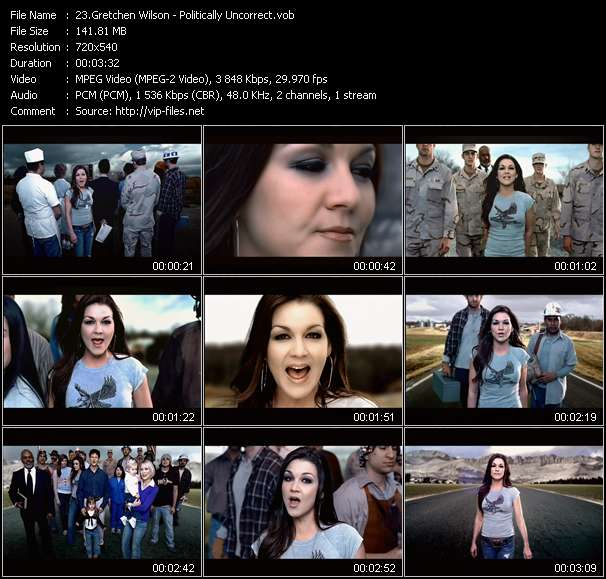 Gretchen Wilson video screenshot