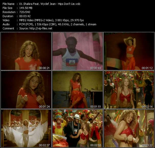 Shakira Feat. Wyclef Jean video screenshot