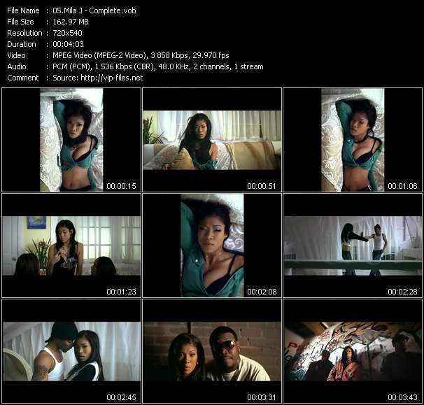 Mila J video screenshot