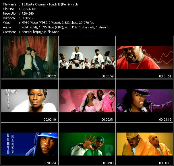 Busta Rhymes Feat. Mary J. Blige, Missy Elliot, Rah Digga, Dmx, Lloyd Banks And Papoose video screenshot