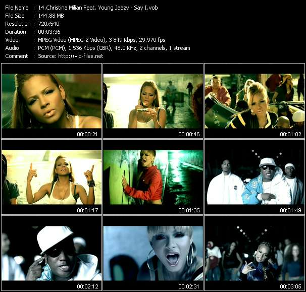 Christina Milian Feat. Young Jeezy video screenshot
