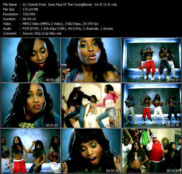 Cherish Feat. Sean Paul Of The YoungBloodz video screenshot
