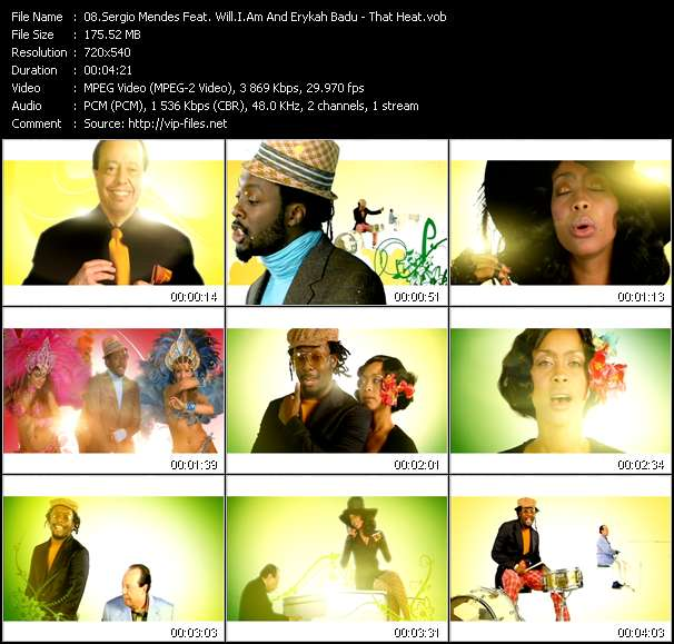 Sergio Mendes Feat. Will.I.Am And Erykah Badu video screenshot