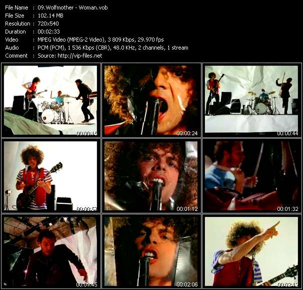 Wolfmother video screenshot