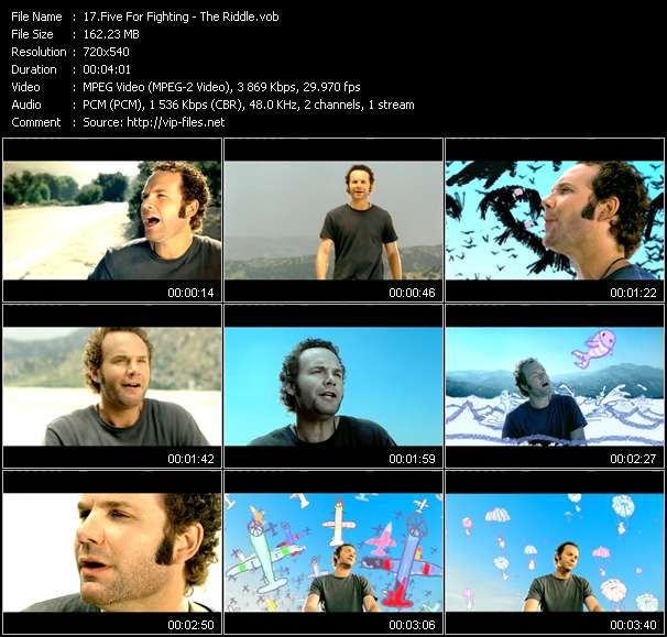 Five For Fighting video screenshot