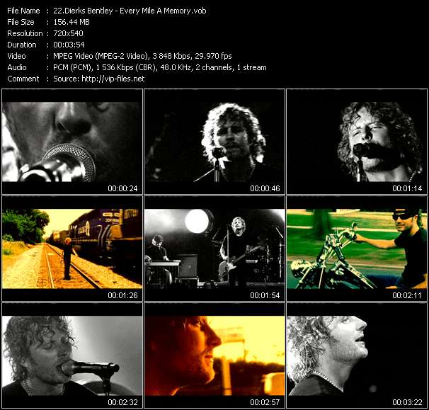 Dierks Bentley video screenshot
