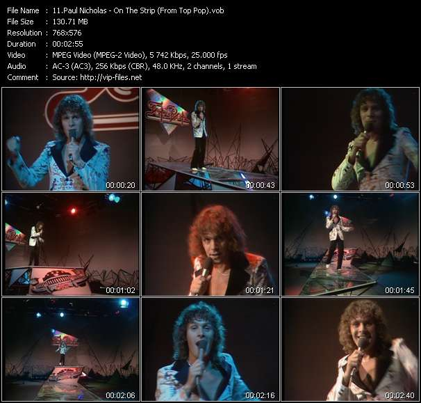Paul Nicholas video screenshot