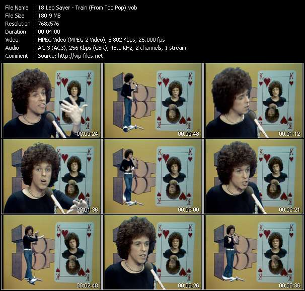 Leo Sayer video screenshot
