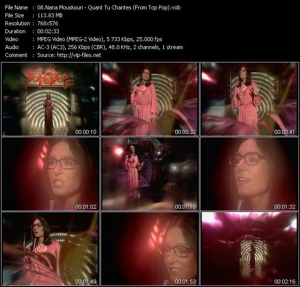 Nana Mouskouri video screenshot