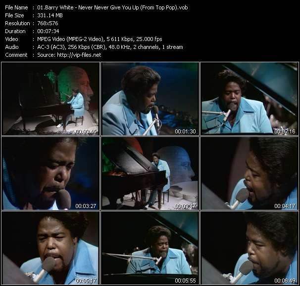 Barry White video screenshot
