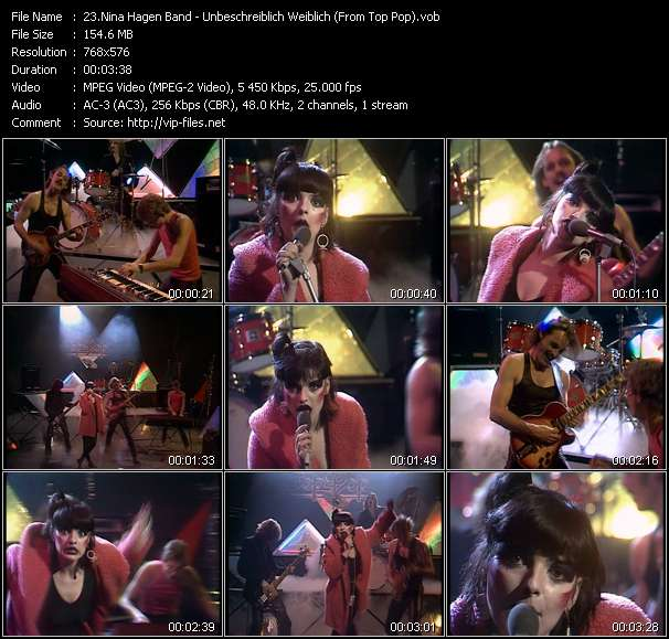 Nina Hagen Band video screenshot