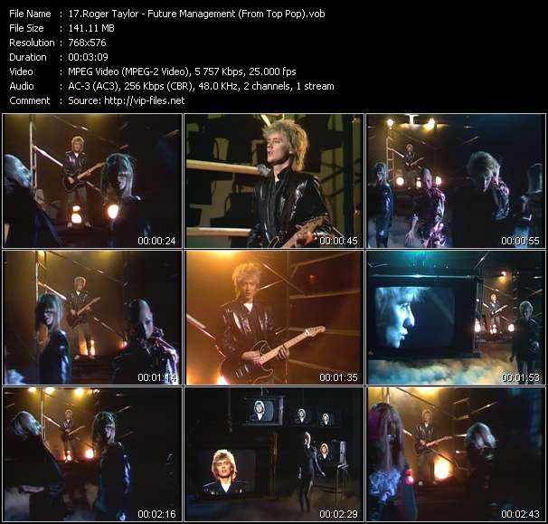 Roger Taylor video screenshot