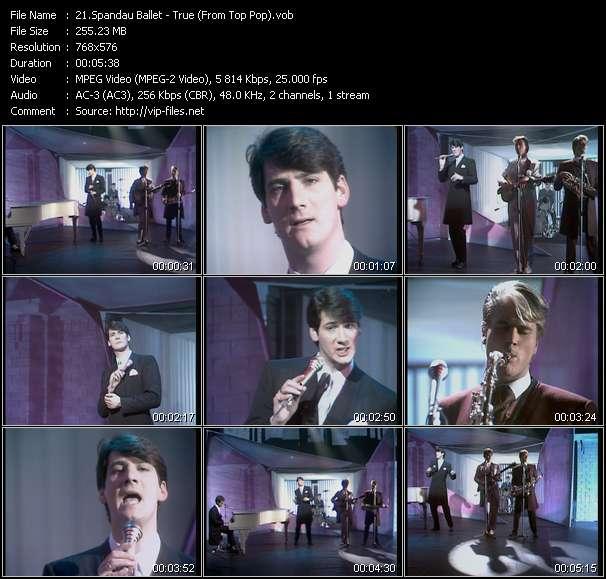 Spandau Ballet video screenshot