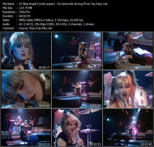 Blue Angel (Cyndi Lauper) video screenshot