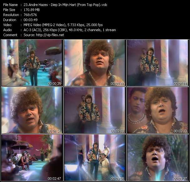 Andre Hazes video screenshot