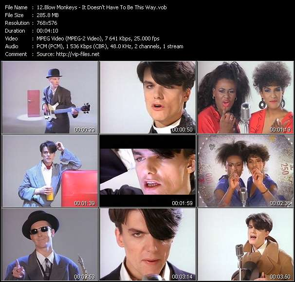 Blow Monkeys video screenshot