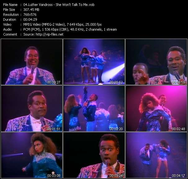 Luther Vandross video screenshot