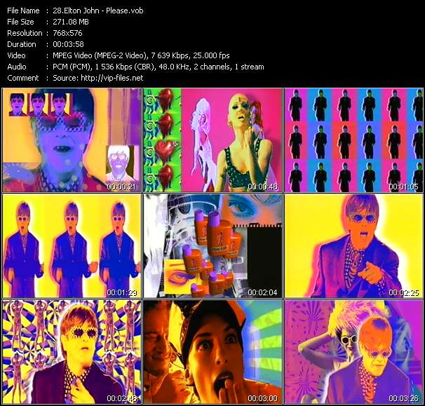 Elton John video screenshot