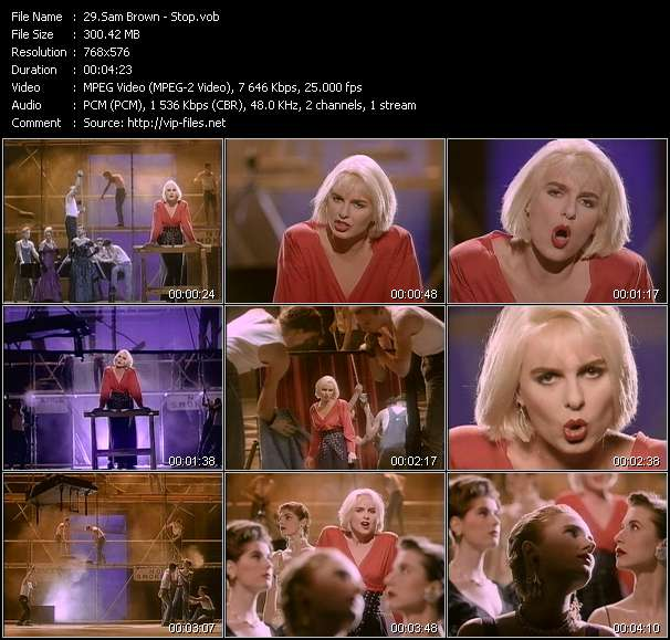 Sam Brown video screenshot