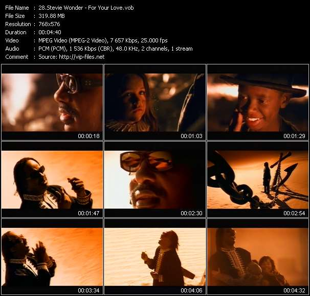 Stevie Wonder video screenshot