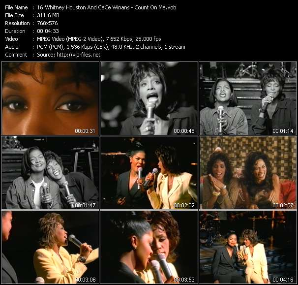 Whitney Houston And CeCe Winans video screenshot
