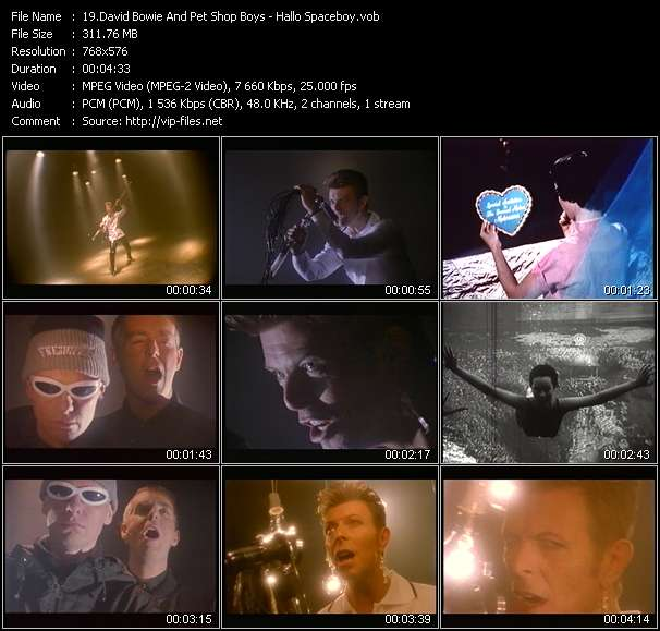 David Bowie And Pet Shop Boys video screenshot