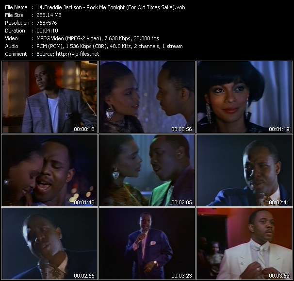 Freddie Jackson video screenshot