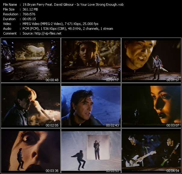 Bryan Ferry Feat. David Gilmour video screenshot