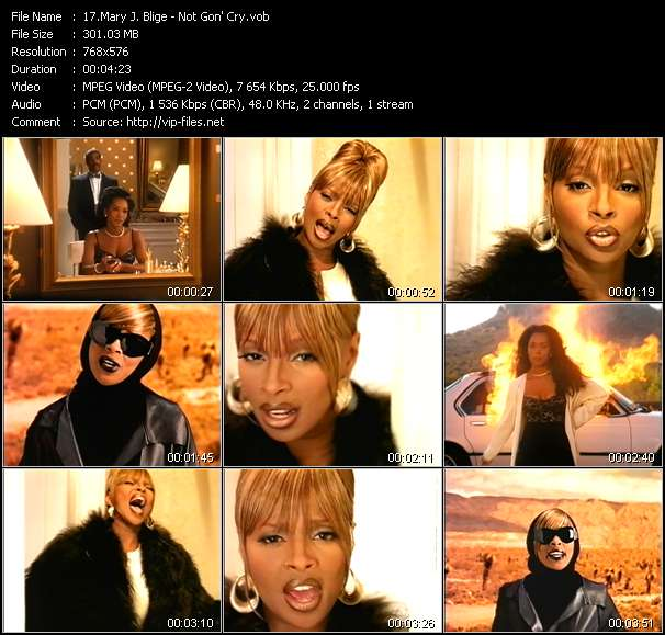 Mary J. Blige video screenshot