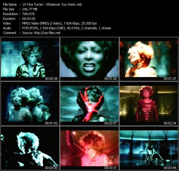 Tina Turner video screenshot