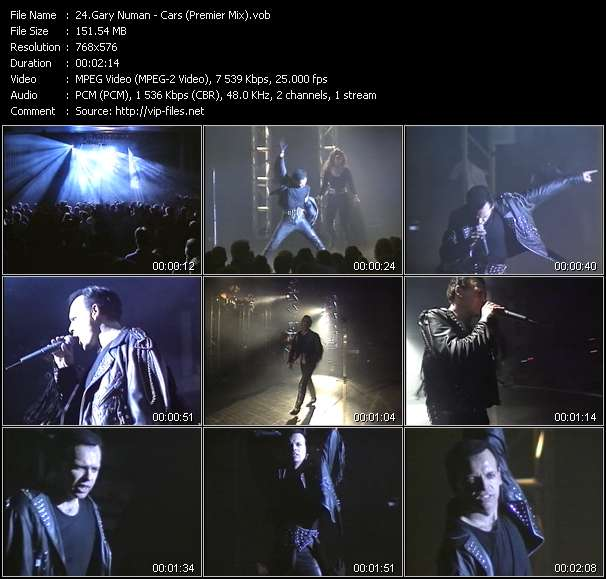 Gary Numan video screenshot
