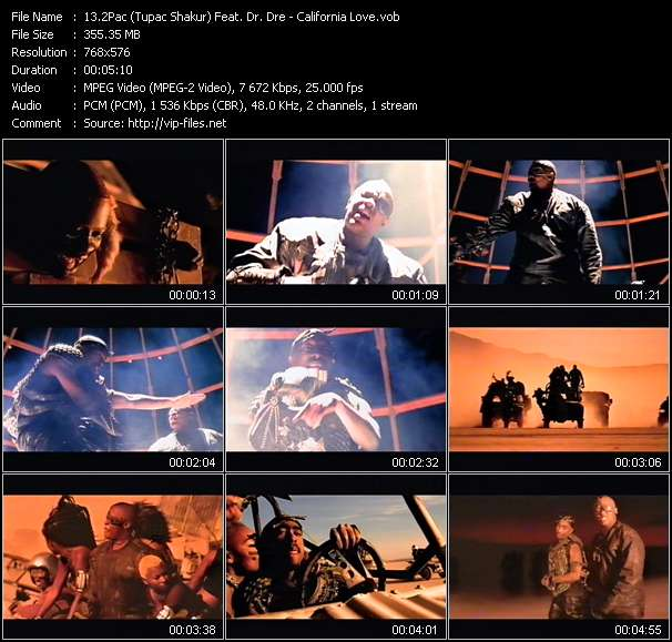 2Pac (Tupac Shakur) Feat. Dr. Dre video screenshot