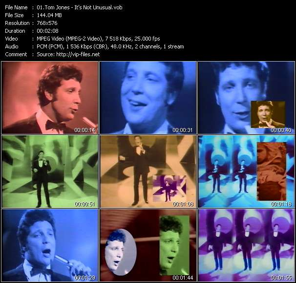 Tom Jones video screenshot
