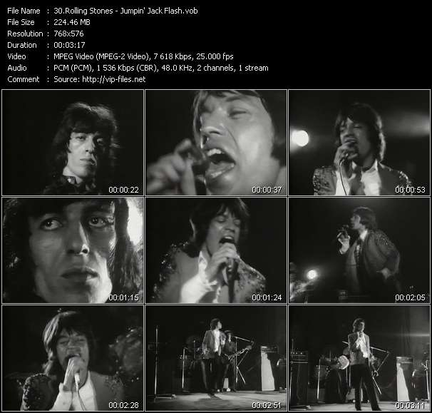 Rolling Stones video screenshot