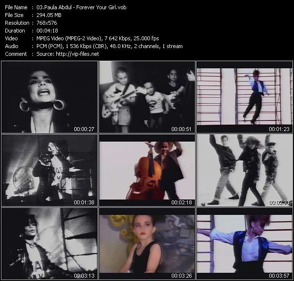Paula Abdul video screenshot