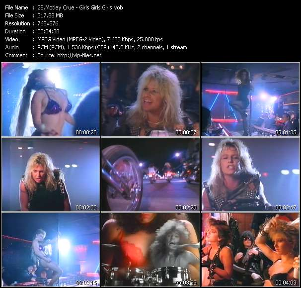 Motley Crue video screenshot