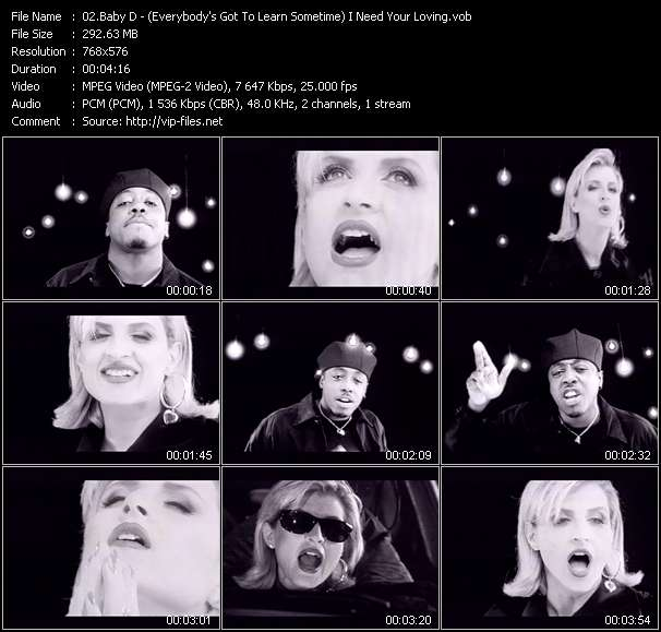 video (Everybody's Got To Learn Sometime) I Need Your Loving screen