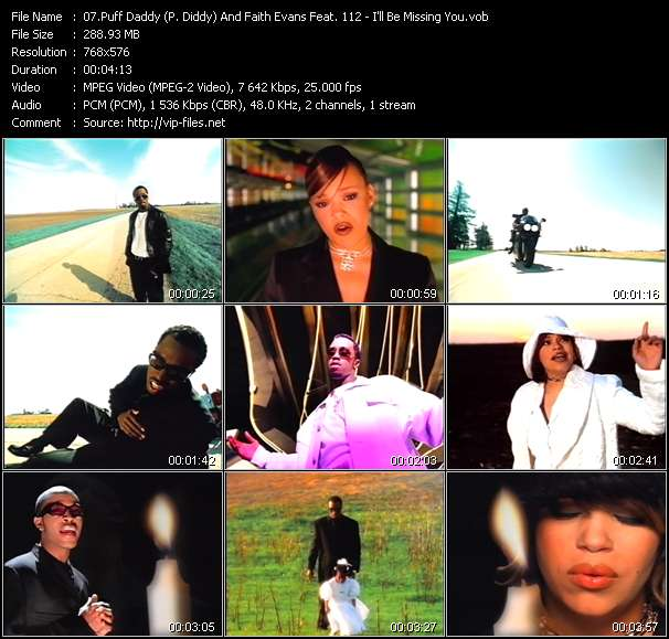 Puff Daddy (P. Diddy) And Faith Evans Feat. 112 video screenshot