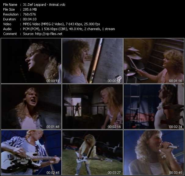 Def Leppard video screenshot