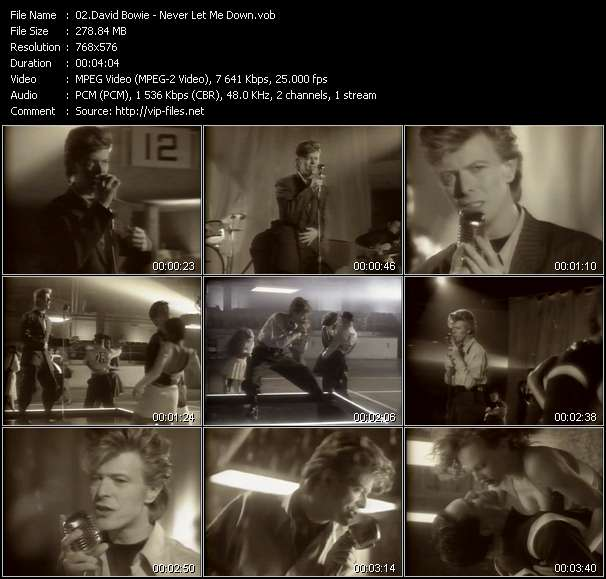 David Bowie video screenshot