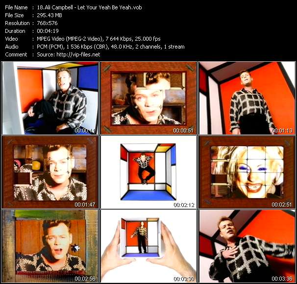 Ali Campbell video screenshot