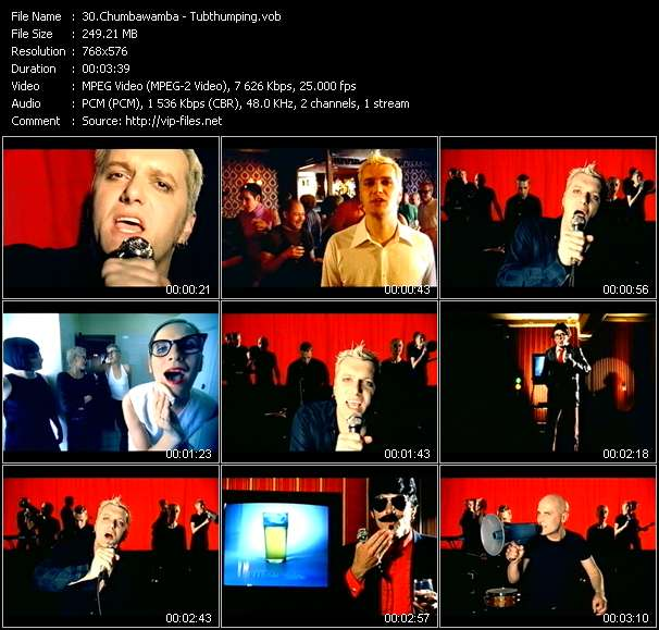 video Tubthumping screen