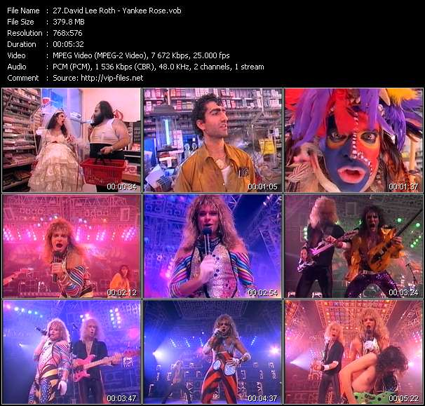 David Lee Roth video screenshot