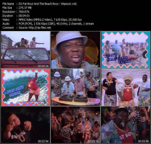 Fat Boys And The Beach Boys video screenshot