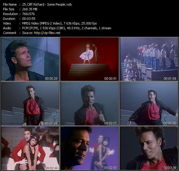 Cliff Richard video screenshot