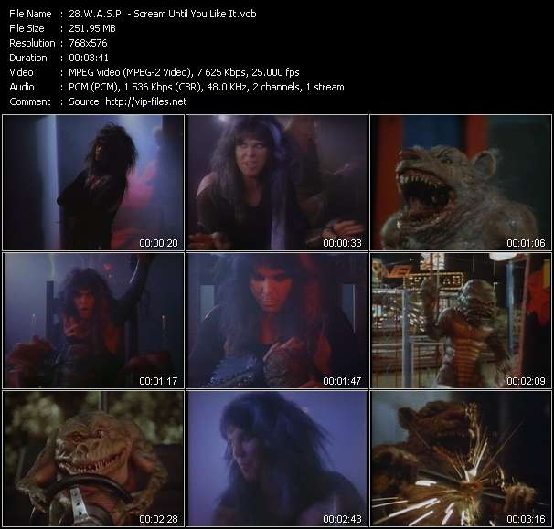 W.A.S.P. video screenshot