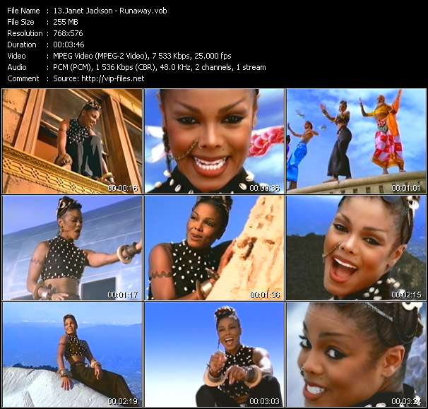 Janet Jackson video screenshot