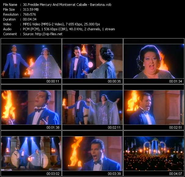 Freddie Mercury And Montserrat Caballe video screenshot