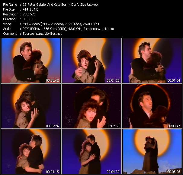 Peter Gabriel And Kate Bush video screenshot